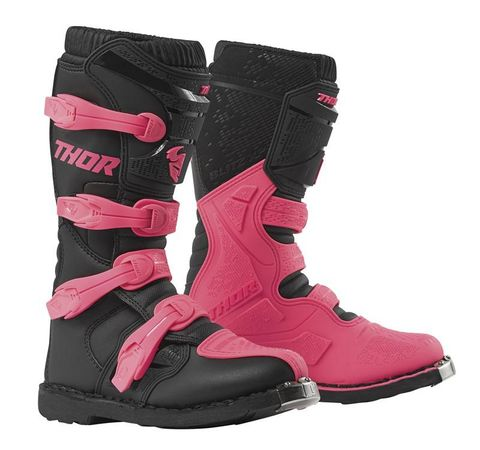 THOR MX BUCKLE BOOT THOR S19W BLITZ XP WOMANS PINK
