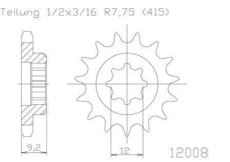 *SPROCKET ESJOT  KTM 50SX ADVENTURE KTM 50SX PRO JUNIOR PRO SENIOR 97-00  12T