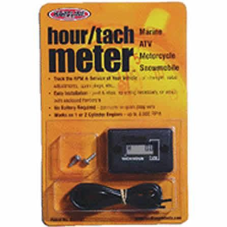 HOUR TACHO METER GENUINE HARDLINE FOR USE ON ANY PETROL ENGINE 2 OR 4 STROKE UP TO 2 CYLINDERS