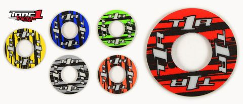 *HANDLEBAR GRIP DONUT TORC1 RACING SOLD IN PAIRS  RED