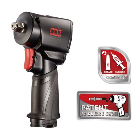 "M7 AIR IMPACT WRENCH 1/2"" DRIVE TWIN HAMMER EZ GREASE 650FT"
