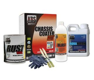 KBS CHASSIS COATER KIT FOR FULL SIZE CAR OR UTE GLOSS BLACK