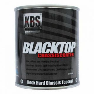 KBS BLACKTOP PERMANENT UV TOP COAT GLOSS BLACK 500ML