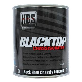 KBS BLACKTOP PERMANENT UV TOP COAT SATIN BLACK 500ML