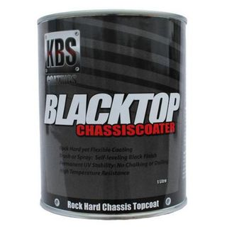 KBS BLACKTOP PERMANENT UV TOP COAT SATIN BLACK 1 LITRE