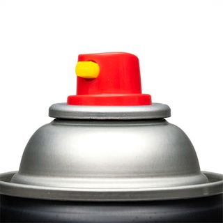 COLORPAK FANSPRAY NOZZLE FOR AEROSOL CAN RED/YELLOW