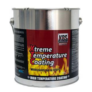 KBS XTC XTREME TEMP COATING SATIN BLACK 4 LITRE
