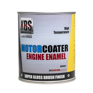 KBS ENGINE ENAMEL MOTORCOATER VELVET SATIN BLACK 500ML