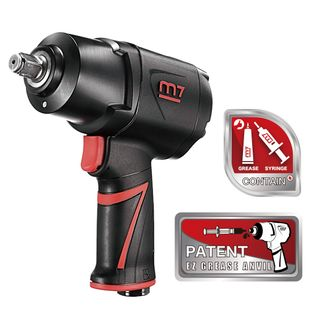 "M7 AIR IMPACT WRENCH 1/2"" DRIVE TWIN HAMMER EZ GREASE 1200FT"