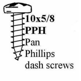 "PAN PHILLIPS STP SCREW 10 X 5/8"" (MOQ 100)"
