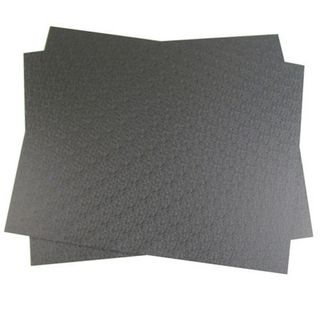 ABS PLASTIC SHEET 300 X 240MM BLACK (2 PACK)