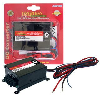 VOLTAGE REDUCER 24V TO 12V @10AMPS CONTINUOUS DUAL OUTPUT