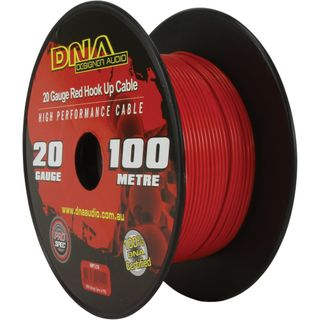 DNA CABLE 20 GAUGE  HOOK UP RED 100MTR