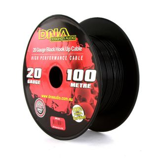 DNA CABLE 20 GAUGE HOOK UP CABLE BLACK 100MTR