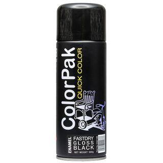 COLORPAK QUICK COLOR AEROSOL SPRAYPAINT GLOSS BLACK