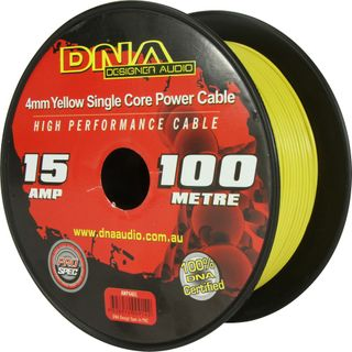 DNA CABLE 15 GAUGE SINGLE CORE CABLE YELLOW 100MTR