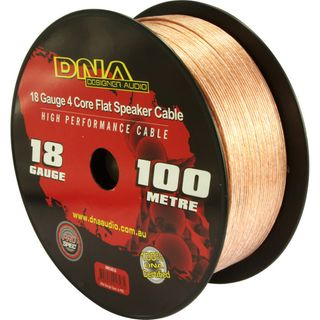 DNA CABLE 18 GAUGE TRANSLUCENT 4 CORE FLAT SPEAKER CABLE 100MTR