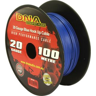 DNA CABLE 20 GAUGE HOOK UP CABLE BLUE 100MTR