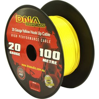 DNA CABLE 20 GAUGE YELLOW HOOK UP CABLE 100MTR