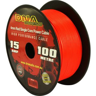 DNA CABLE 15 GAUGE SINGLE CORE CABLE RED 100MTR