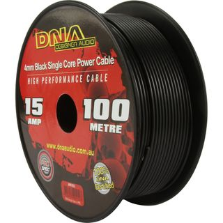 DNA CABLE 15 GAUGE SINGLE CORE CABLE BLACK 100MTR
