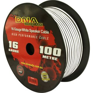 DNA CABLE 16 GAUGE SPEAKER CABLE WHITE 100MTR