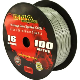 DNA CABLE 16 GAUGE SPEAKER CABLE GREY 100MTR