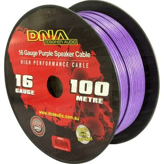 DNA CABLE 16 GAUGE SPEAKER CABLE  PURPLE 100MTR