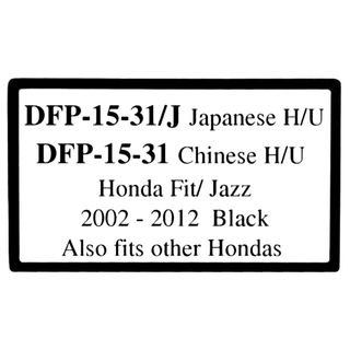 *FITTING KIT HONDA FIT/JAZZ 2008-2014 DOUBLE DIN(JAP. INNER TRIM 172 X 97.5MM)