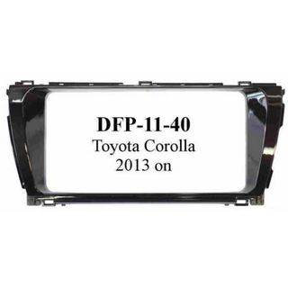 *FITTING KIT TOYOTA COROLLA 2013 ON DOUBLE DIN (LARGE RADIO)