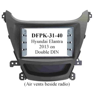 *FITTING KIT HYUNDAI ELANTRA 2013 ON DOUBLE DIN
