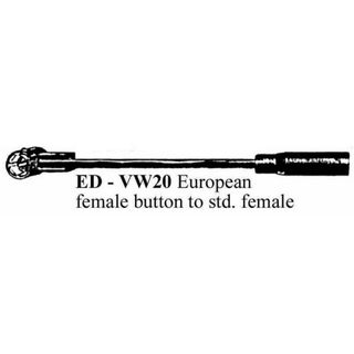 STANDARD FEMALE TO EURO BUTTON FEMALE LEAD
