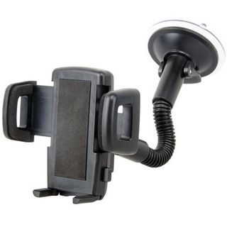 PHONE CRADLE WINDOW MOUNT GOOSE NECK WITH ADJUSTABLE CLAMP (35 - 83MM)