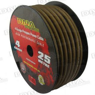 DNA CABLE 4 GAUGE POWER CABLE BROWN 25MTR