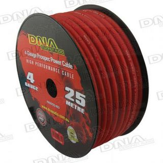 DNA CABLE 4 GAUGE POWER CABLE  RED 25MTR