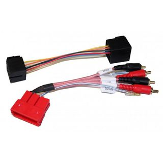AMPLIFIED AUDI / PORSCHE 1992 - 2014 MINI ISO 4 CHANNEL RCA