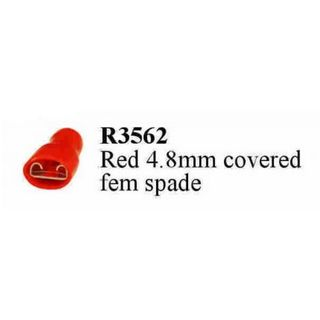 RED 4.8 MM FEMALE SPADE TERM. FULLY INS.  (200PACK)