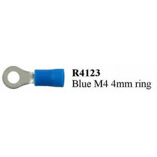 BLUE M4 RING TERMINAL PRE INSULATED  (200PACK)