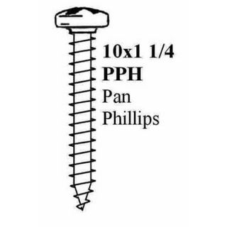 "10 X 1.1/4"" PAN PHIL.STP SCREW BLACK"
