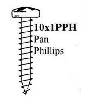 "10 X 1"" PAN PHIL STP SCREW (MOQ100)"