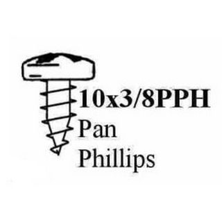 PAN PHILLIPS HEAD STP SCREW BLACK