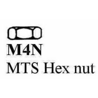 NUT M4 BLACK