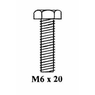 BOLT M6  X 20MM (BAG OF 100)