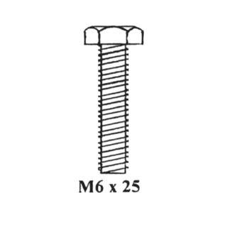 BOLT M6 X 25MM
