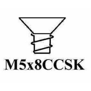 5 X 8MM CSK MTS SCREW ZINC PLATED (MOQ100)