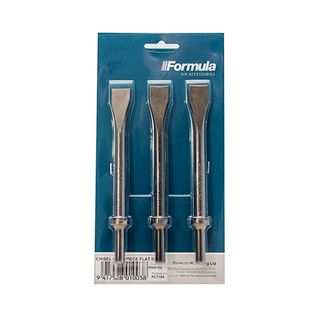FORMULA CHISEL SET 20MM FLAT BLADE FOR AIR HAMMER 3 PIECE