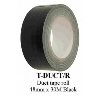 DUCT TAPE ROLL 48MM X 30METER BLACK