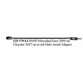 EDS-VWA3   BMW AERIAL TO STD MALE 2002 >