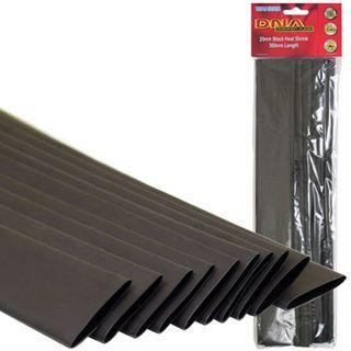 HEATSHRINK 25MM BLACK (10 PACK)