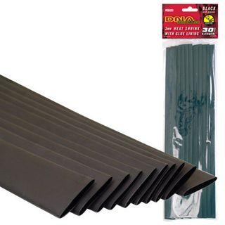 HEATSHRINK 3MM GLUE LINED BLACK (10 PACK)